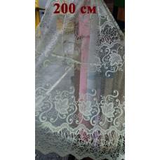 Жаккардовая короткая тюль 160-180, 200 см