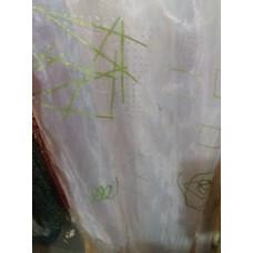 Тюль органза вышивка (печать) турецкая