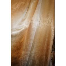 Портьера радуга песок персик-золото V11