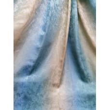 Портьера радуга песок зелено-голубые 42