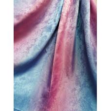 Портьера радуга песок розово-голубой 119