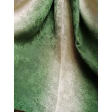 Портьера радуга песок зеленая (бутылочный)  126