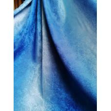 Портьера радуга песок сине-голубые 27
