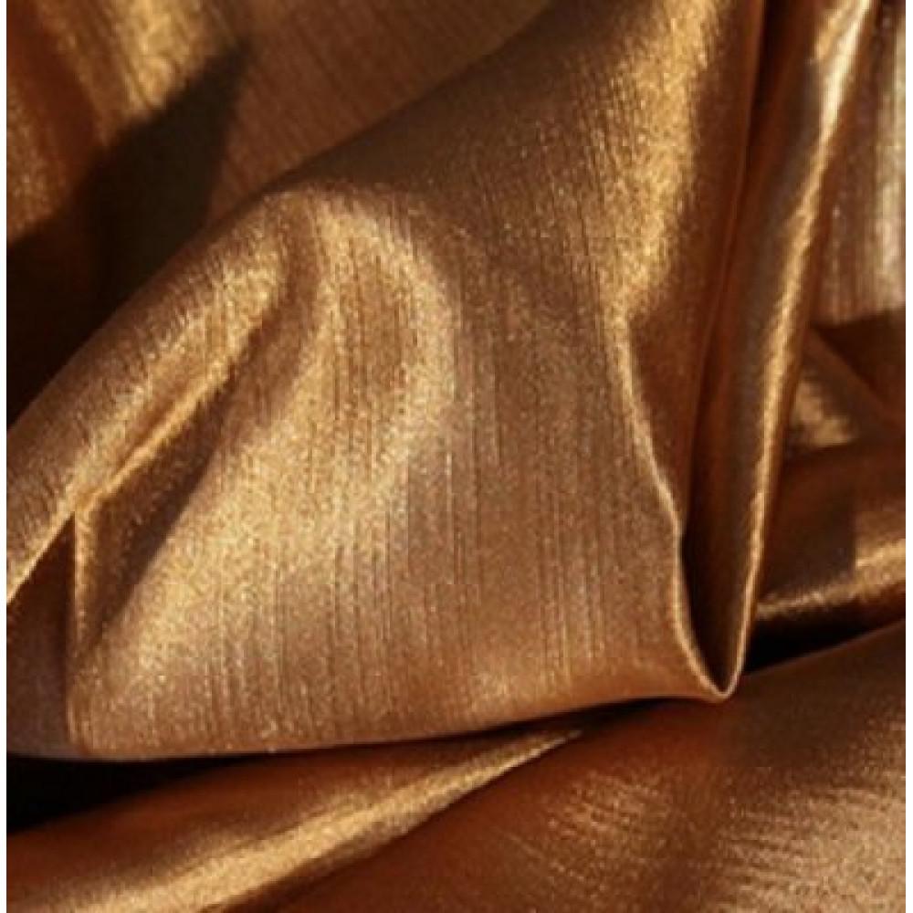 Штора Шанзелизе (селеста) однотонная коричневая