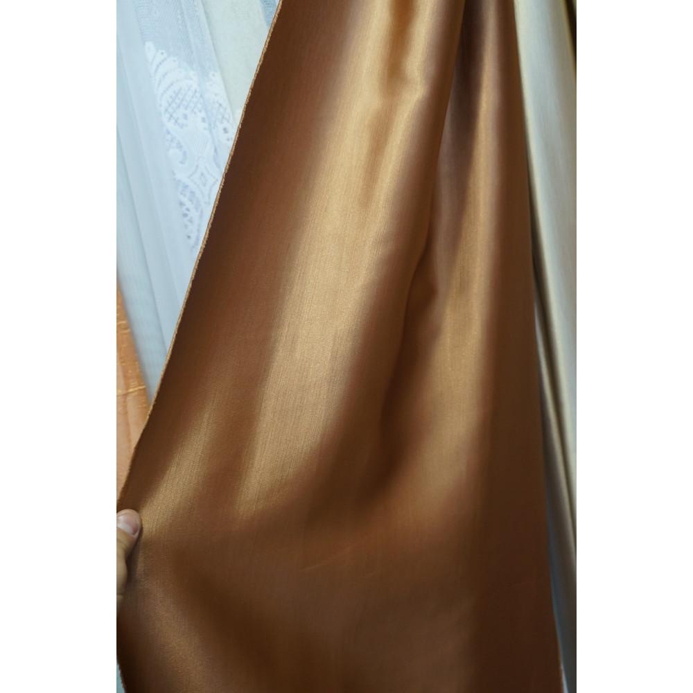 Шанзелизе однотонные шторы светло-коричневые