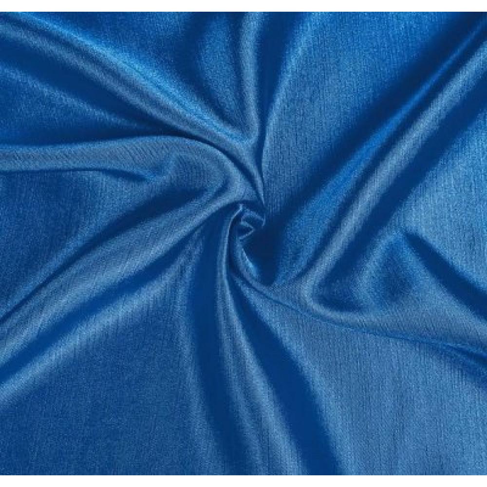 Штора Шанзелизе (селеста) однотонная синяя