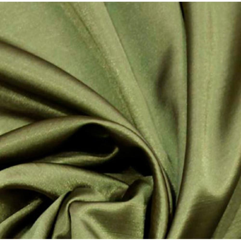 Штора Шанзелизе (селеста) однотонная зеленая