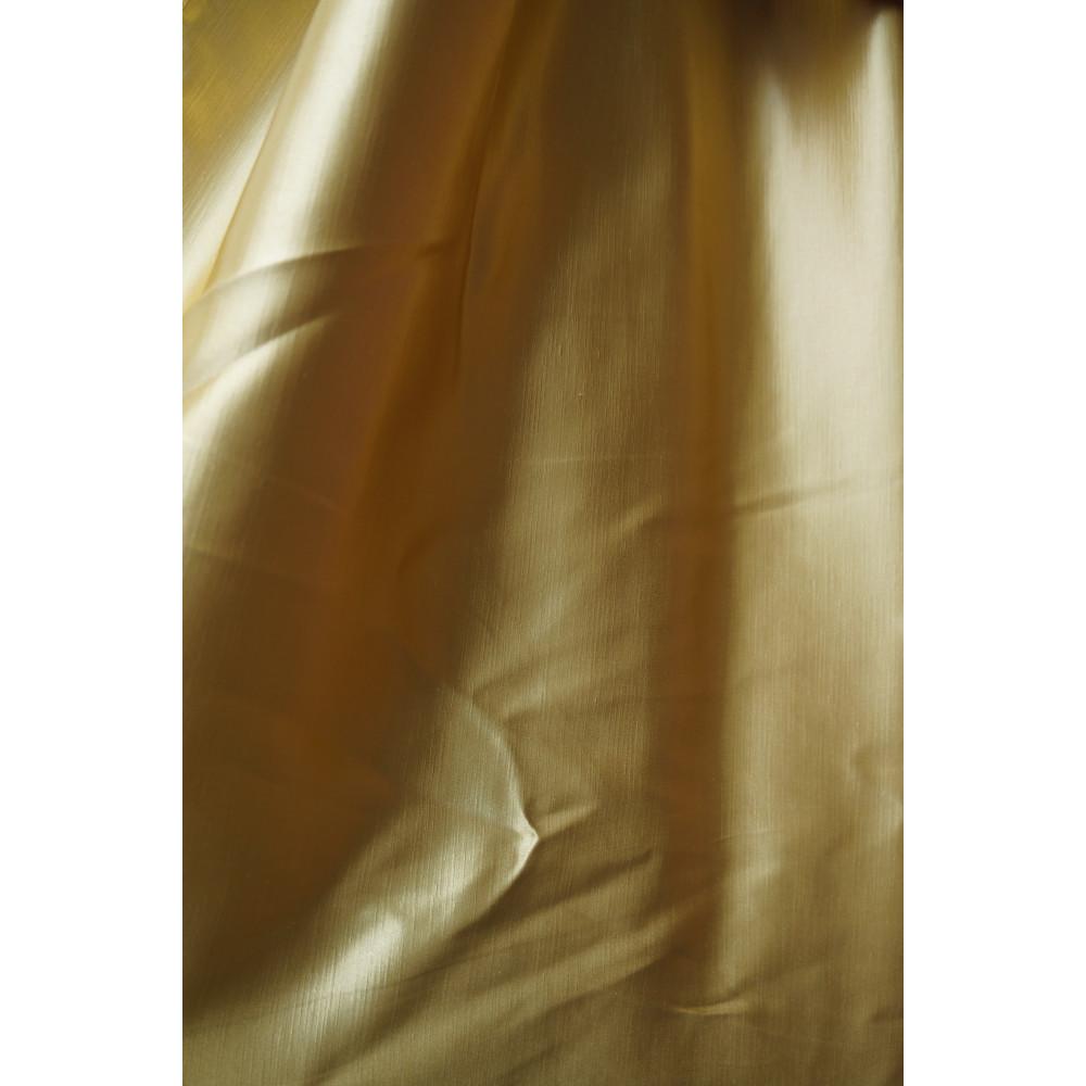 Шторы шанзализе (селеста) однотонная золотая