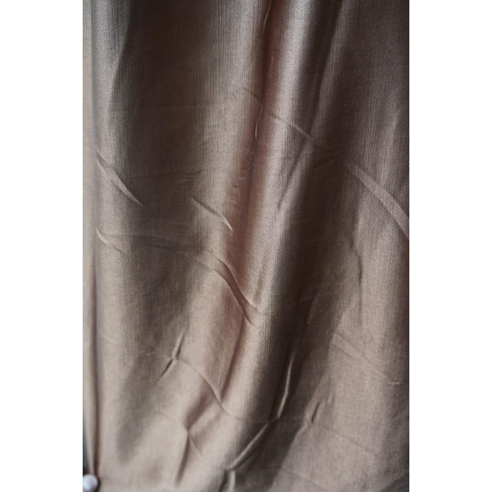 Штора шанзелизе (селеста) коричневый-венге