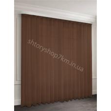 Шифон тюль темно-коричневый (венге) 33136