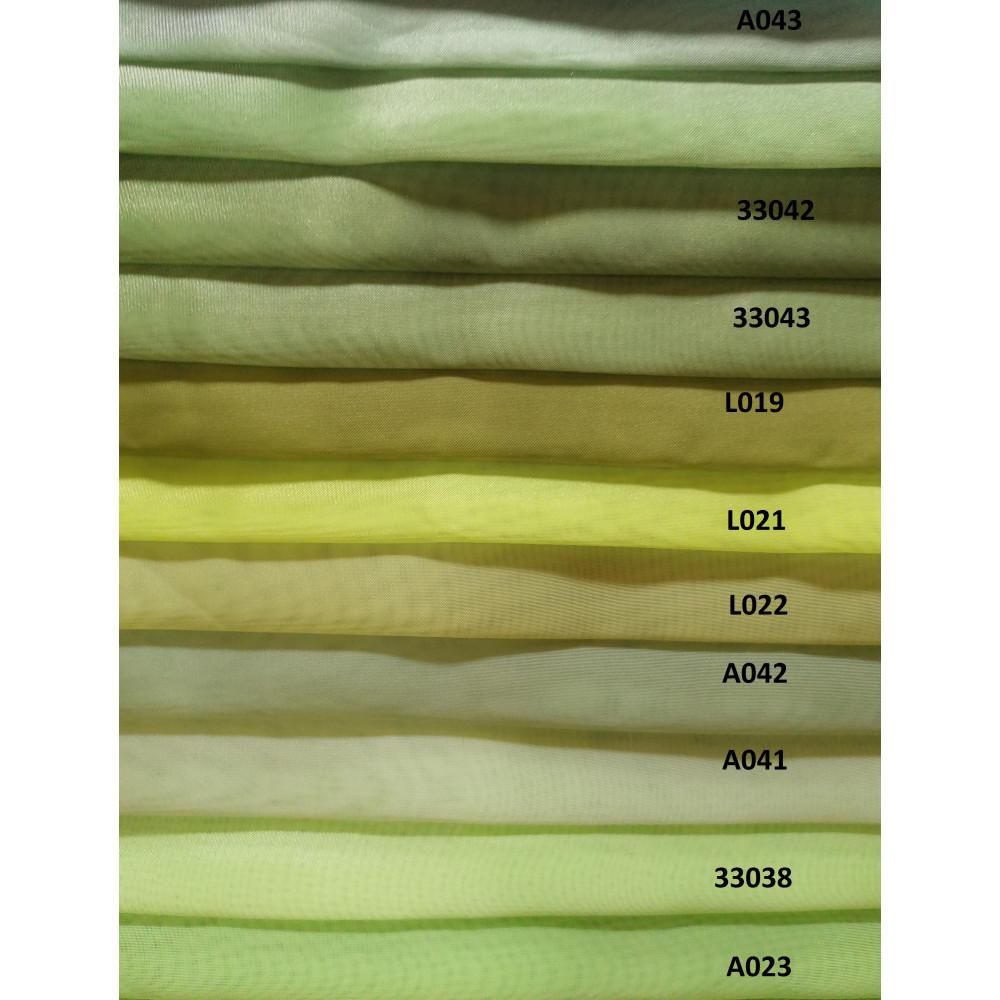 Шифон тюль зеленая, салатовая
