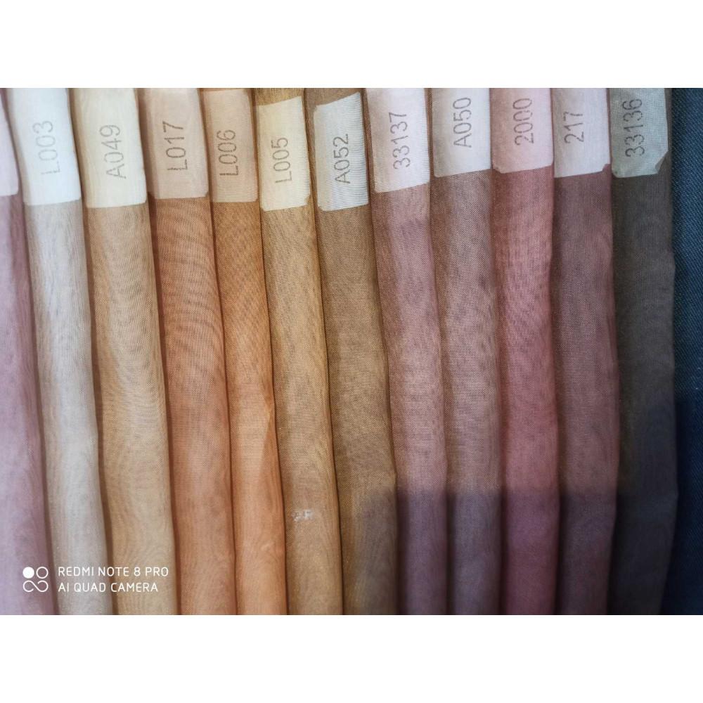 Тюль шифон коричневая