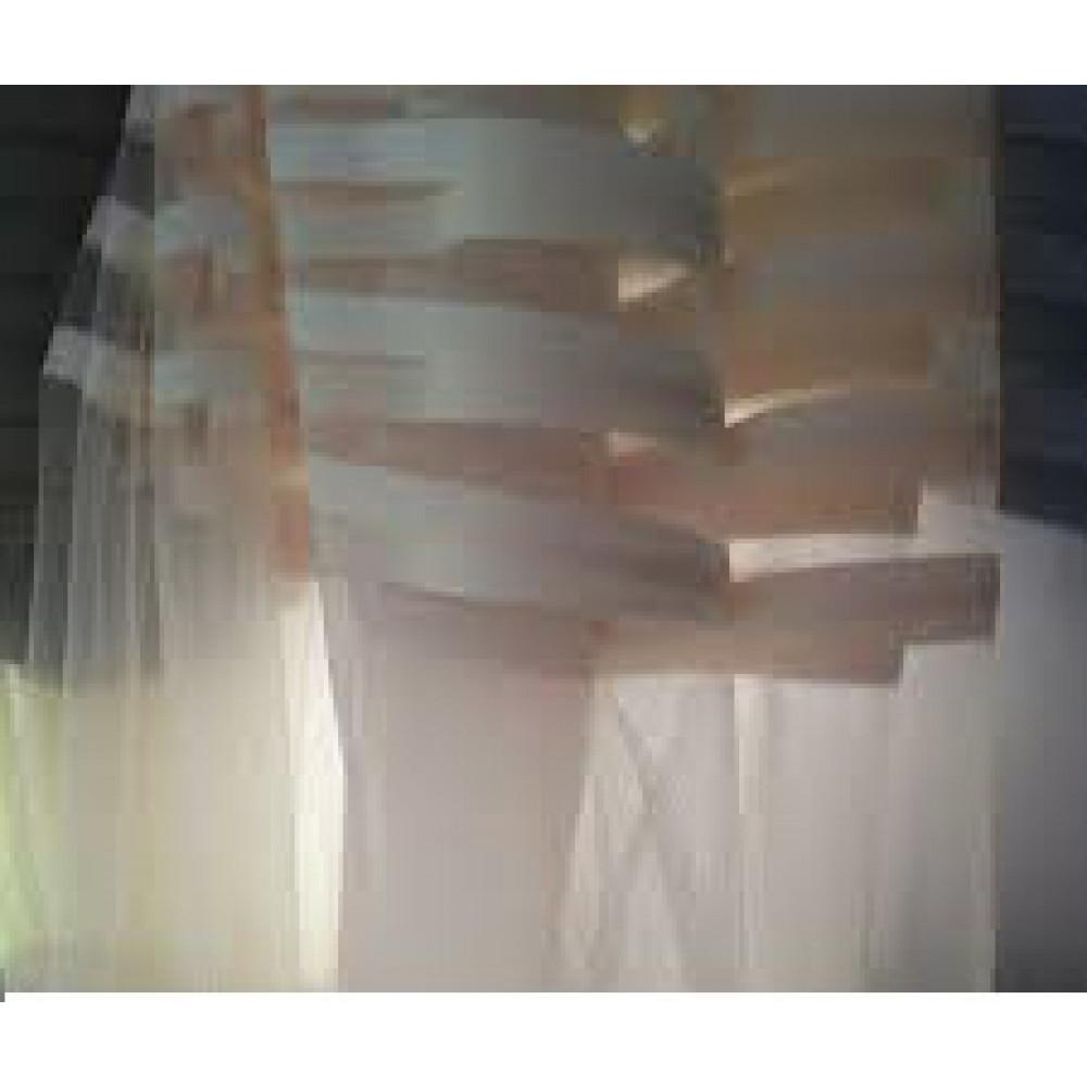 Тюль фатин полоска белая и молочная