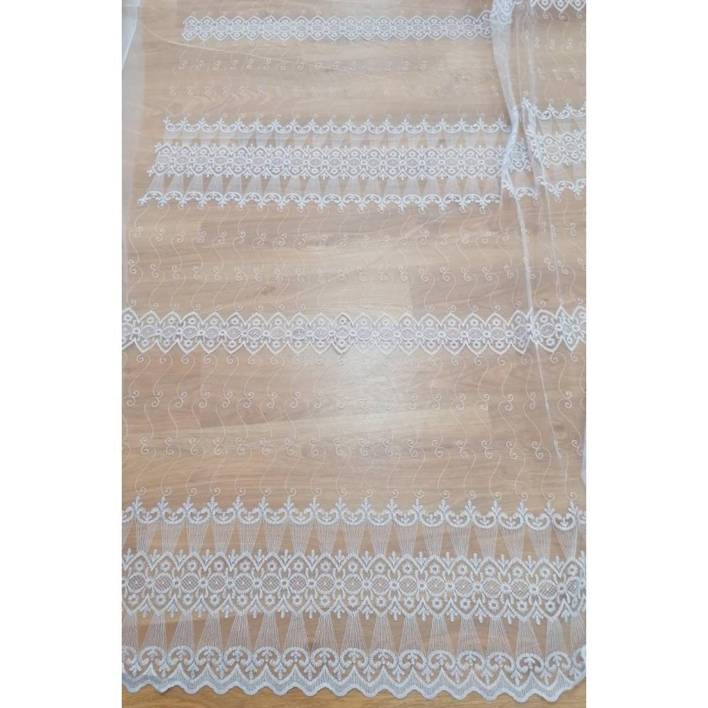 Тюль фатин с вышивкой недорогая