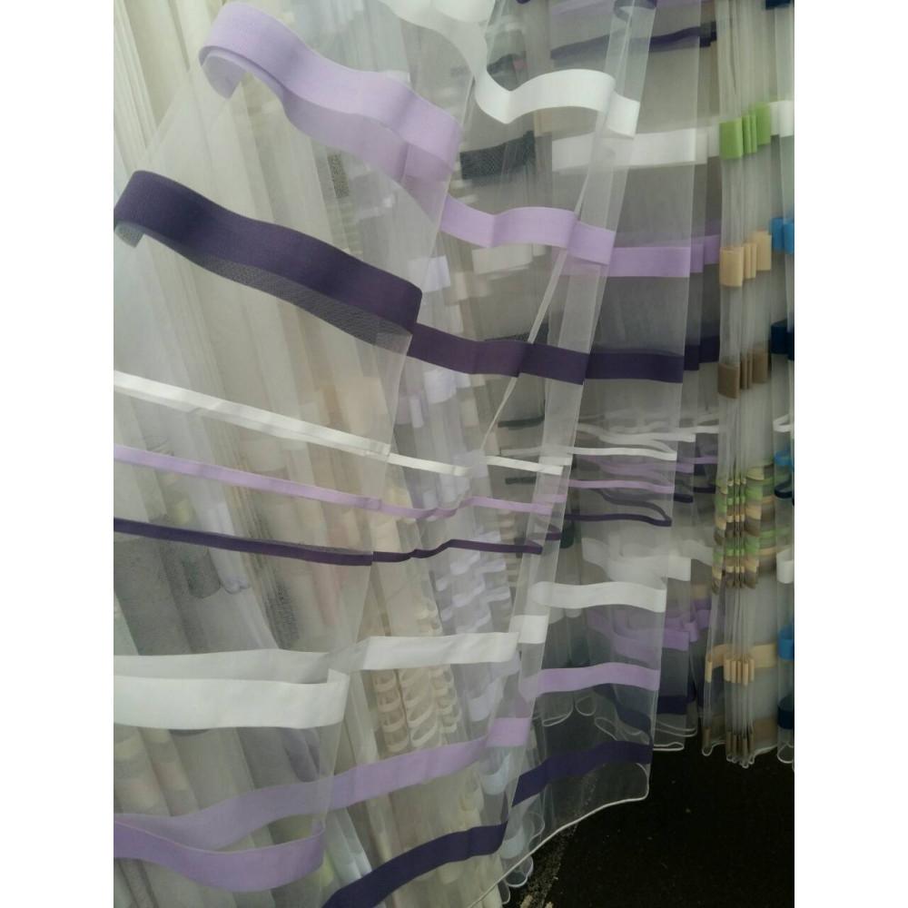 Фатин тюль полоса цветная трехцветная