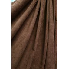 Штора Микровелюр (микровельвет)  коричневая