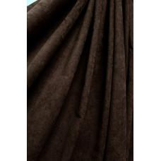 Штора Микровелюр темно-коричневая