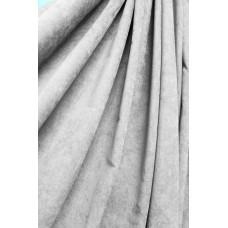 Штора Микровелюр (микровельвет)  светло-серая