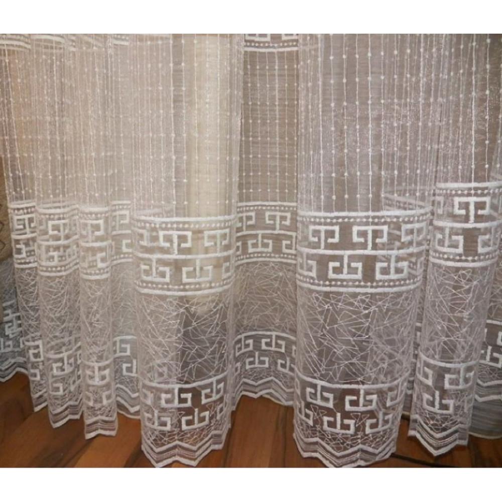 Тюль вышивка по низу Греческий стиль