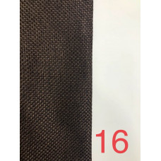Лен блэкаут (мешковина) рогожка коричневый №16