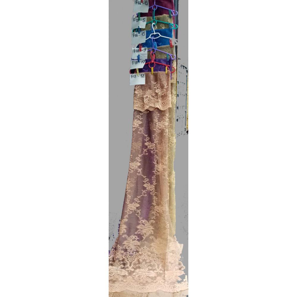 Жаккард тюль цветная